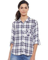 Cerulean Blue & White Check Shirt