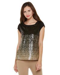 Sequin Gold Sprinkled Top