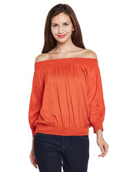 Autumn Blaze Off-the-Shoulder Top