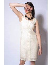 Sleeveless Ivory Dress