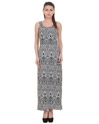 Zig-Zag Print Maxi Dress