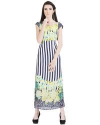 Nautical Flora Green Dress