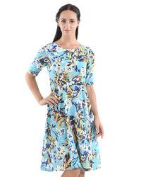 Azure Floral Dress