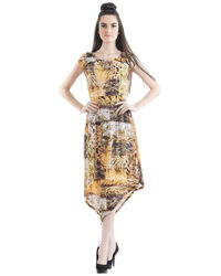 Golden Ray Sheath Dress