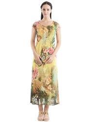 Butterfly Flora Maxi Dress