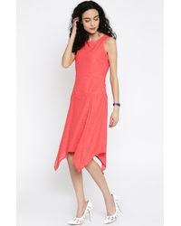 Coral Asymmetric Dress
