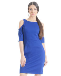 Blizzard Blue cold Shoulder Dress