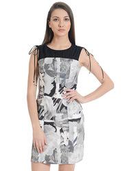 Monochrome Shift Dress