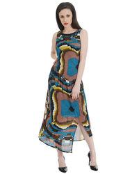Brown Illusion Maxi Dress