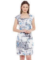 Delicate Cool Blue Floral Dress