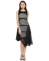 Noir Bonded Asymmetric Dress