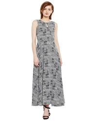 Monochrome Fit & Flare Maxi Dress