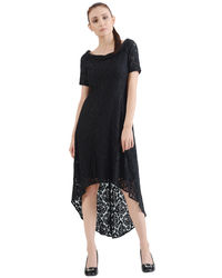 Noir Hi-Lo Lace Dress