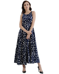 Indigo Pixeled Maxi Dress