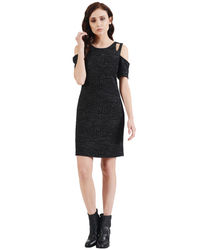 Noir Cold Shoulder Luxe Dress