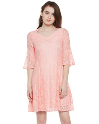 Powder Pink Lace Dress