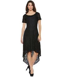 Noir Hi-Lo Lace Dress