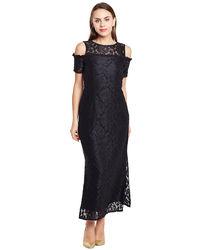 Noir Cold Shoulder Lace Dress