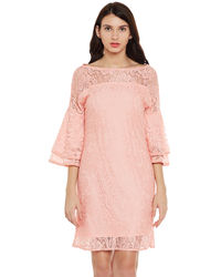 Flamigo Bell Sleeves Lace Dress