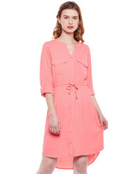 Blush Pink Shirt Dress