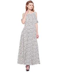 Ivory Criss-Cross Maxi Dress