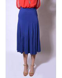 Pleated Blue Skirt
