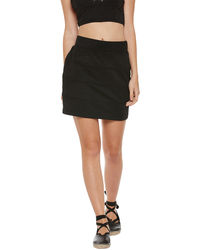 Noir Pleated Short Skirt