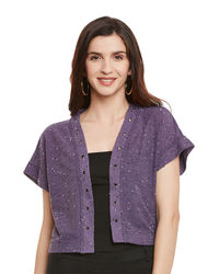 Mauve Box Crop Shrug