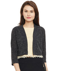 Noir Short Shimmer Shrug