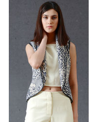 Smoke Gray Sleeveless Jacket
