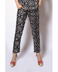 Printed Black Pants
