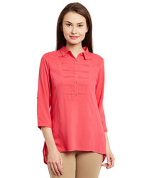 Rose Pink Hi-Lo Tunic