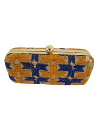 Handmade Phulkari Box clutch- Multicolor-3