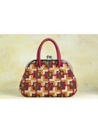 Phulkari Retro Handbag - design C