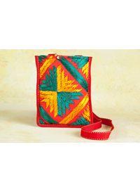 Phulkari Cross Body Sling Bag