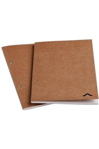 Rubberband A5 Ruled Note Pad Kraft Cover