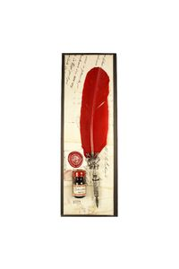 Rubinato Quill Pen 7027 Gift Set Red Feather