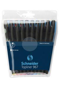 Schneider Fineliner Topliner 967 196790 Set Of 10 ASST