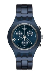 Swatch Men'S Watch Svcn4004Ag Irony Diaphane Full Blooded Smoky Blue