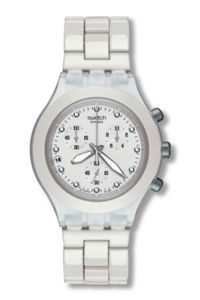 Swatch Ladies Watch Svck4045Ag Irony - Diaphane - Full-Blooded White