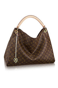 REPLICA LOUIS VUITTON BROWN WIDE HANDBAG