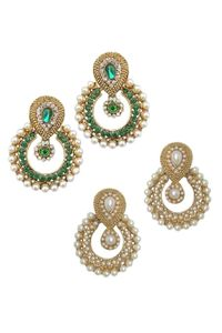 YouBella Combo of Two Designer Traditional Earrings