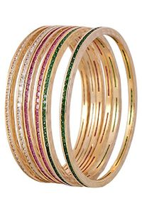 YouBella Multicolor Gold Plated Bangles For Women