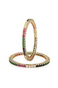 YouBella Multicolor American Diamond Bangles For Women