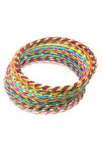YouBella Stylish Gold Plated Multi-color Thread Work Bangles - 12 pcs