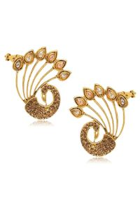 YouBella Designer Traditional Dancing Peacock Earcuff Earrings