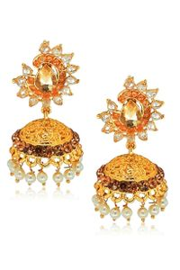 YouBella Designer Traditional Pearl Jhumki Earrings