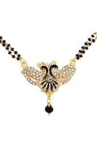 YouBella Meenakari Dancing Peacock Mangalsutra with Chain for Women
