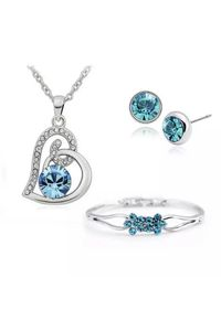 YouBella Valentine Collection Crystal Combo of Pendant Set and Bracelet