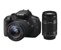 Canon EOS 700D DSLR Camera with EF-S 18-55mm IS II + EF-S 55-250mm IS II